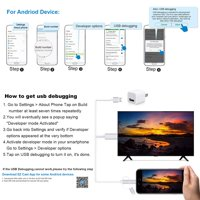 3 in 1 HDMI Cable Adapter for Apple Lightning Cable, Lighting/Type-C/Micro USB to HDMI Cable Digital Audio Mirror Mobile Phone Screen to TV Projector Monitor 1080P HDTV Adapter for Android, S10227