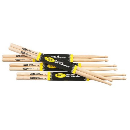 Sound Percussion Labs Hickory Drumsticks 4-Pack 5A Wood