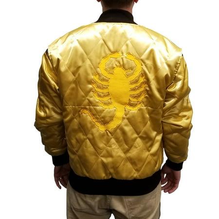 Mitchell Ryan Halloween (Scorpion Jacket Drive Movie Driver Ryan Gosling Adult Satin Coat Cosplay)