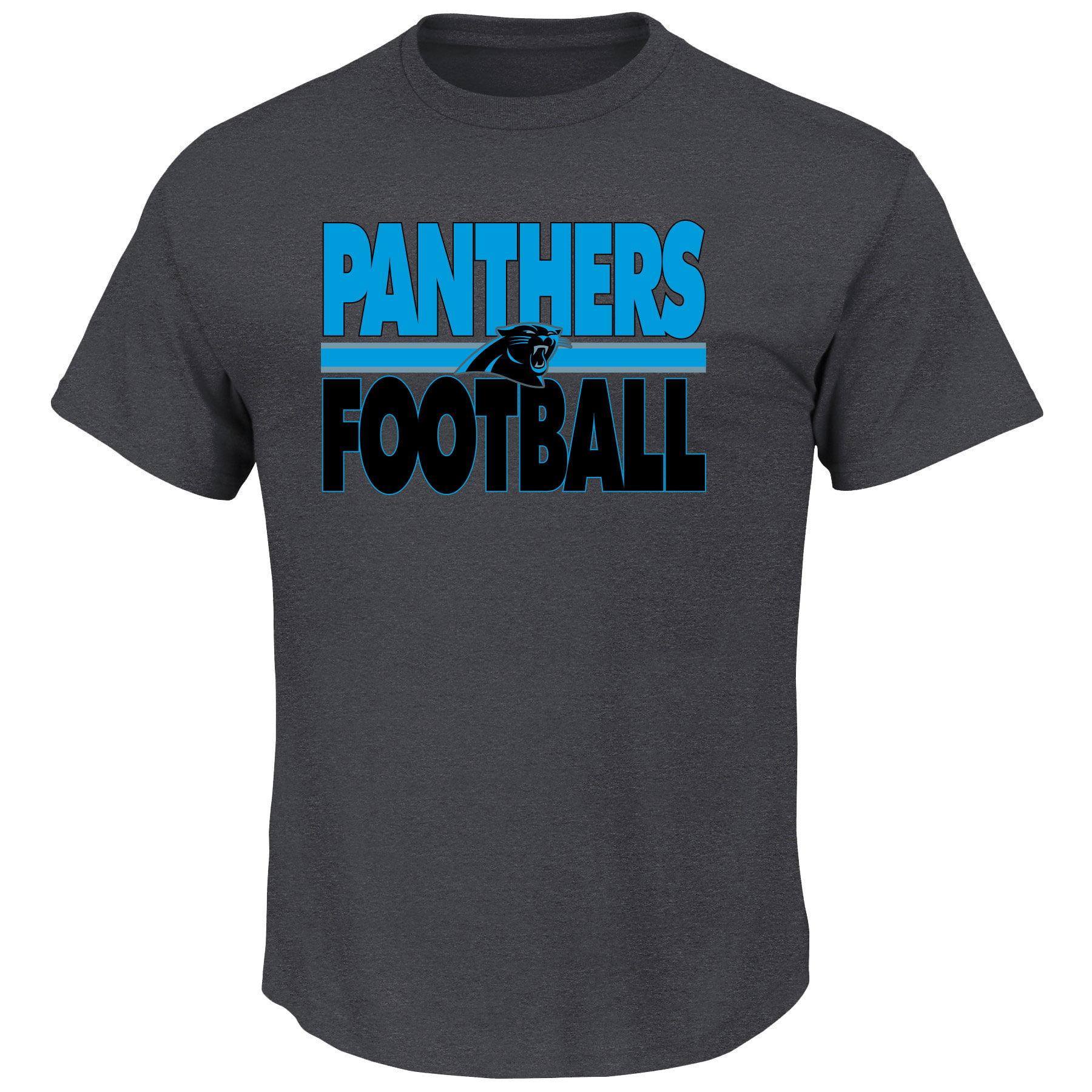Carolina Panthers Custom Football 2 T-Shirt - Majestic - image 1 of 2