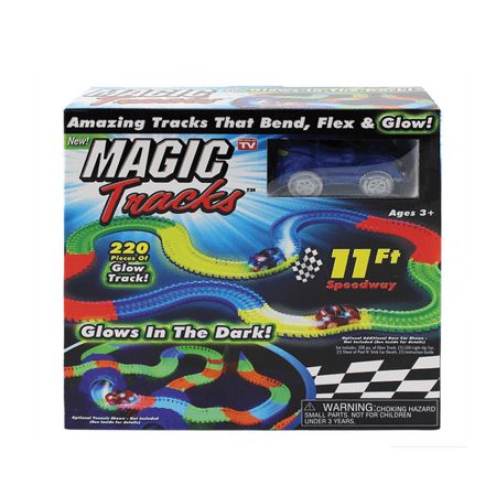 165 Pieces Of Tracks Glow In The Dark LED Light Up Race Car Bend Flex