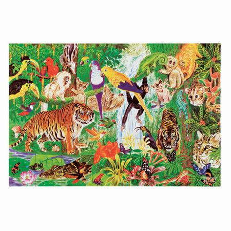 Melissa & Doug Rainforest Floor Puzzle (48 pieces, 2 x 3 feet)