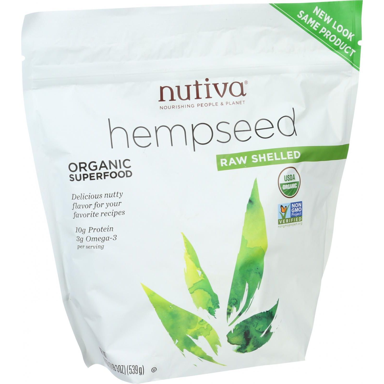 Nutiva Organic Raw Shelled Hemp Seeds, 1.2 Lb, 18 Servings