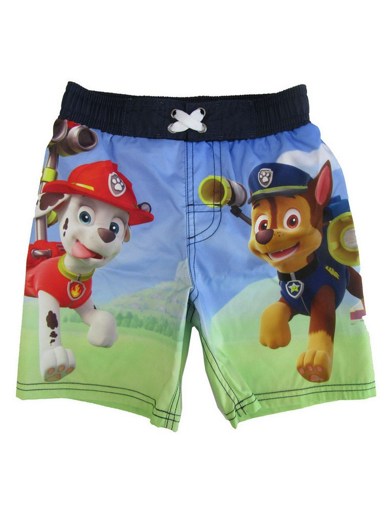 Nickelodeon Little Boys Green Paw Patrol Swim Shorts