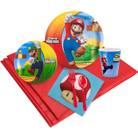 Super Mario Bros Party Pack for 24 - Mario Birthday Party