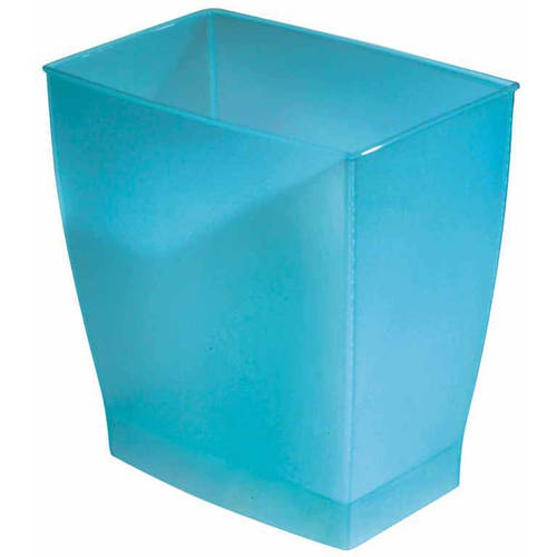 InterDesign Spa Mono Rectangle Wastebasket Trash Can