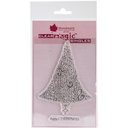 """Woodware Clear Stamps 3.5""""X5.5""""-Delightful Dangles Christmas Tree"""
