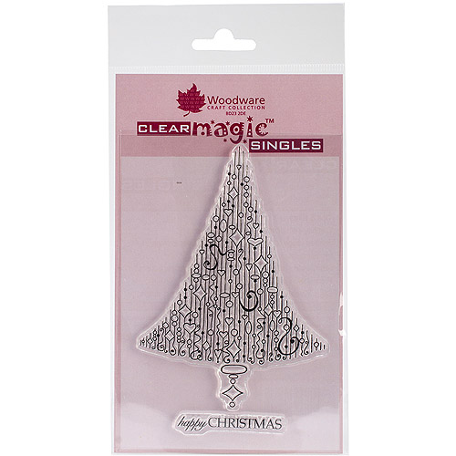 "Woodware Clear Stamps 3.5""X5.5""-Delightful Dangles Christmas Tree"
