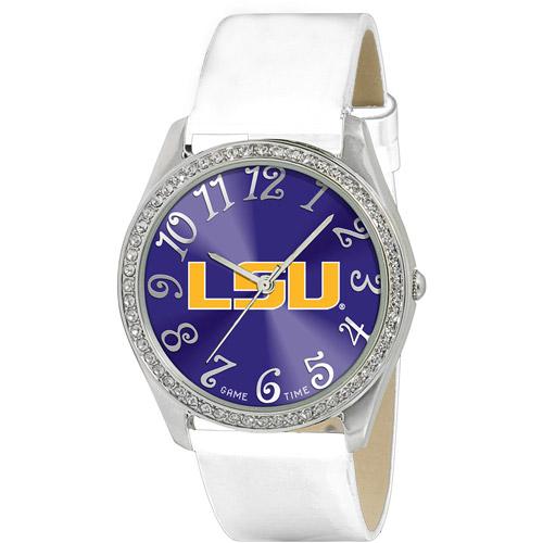 Game Time NCAA Women's Louisiana State Tigers Glitz Watch, Silver