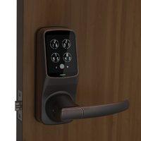 Secure Smart Latch Door Lock with Touchscreen (Venetian Bronze)