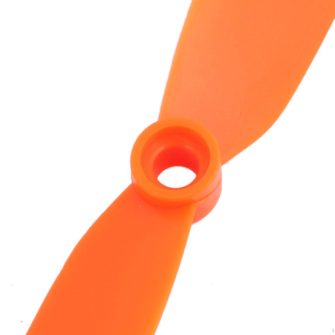 "EP-8060 Vane Aircraft Plane Propeller Flight CW CCW 8"" Orange w Adapter Rings - image 1 de 3"
