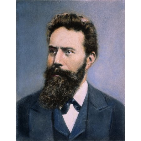 Wilhelm Roentgen N(1845-1923) German Physicist Known For His Work With X-Rays Oil Over A Photograph Late 19Th Century Rolled Canvas Art -  (24 x
