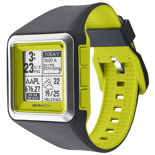 MetaWatch STRATA - Optic Green Smartwatch (MW3006) for iPhone and Android