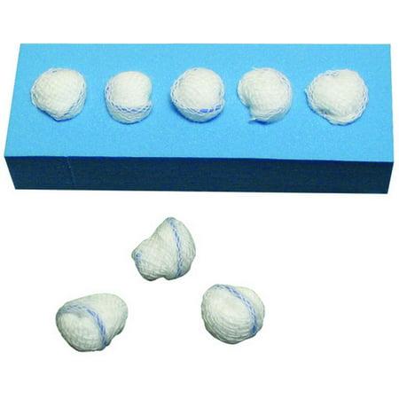 """Dukal Peanut Sponges, X-Ray Detectable, 3/8"""", Sterile, No Holder, 5/pk 40pk/cs (pack Of 40)"""
