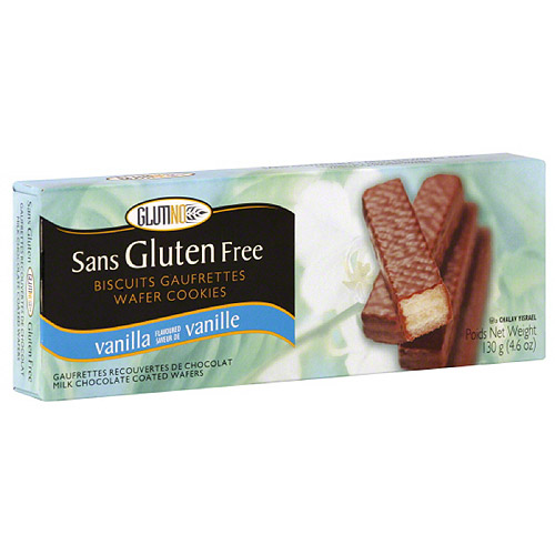 Glutino Milk Chocolate Coated Vanilla Wafer Cookies, 4.6 oz (Pack of 12)