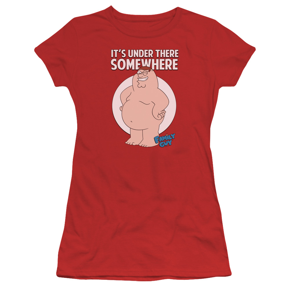 Family Guy Somewhere Juniors Short Sleeve Shirt