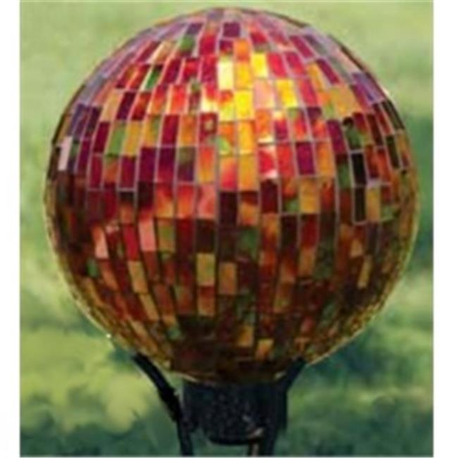 Carson Home Accents 65687 10 Inch Gazing Ball Mosaic Red
