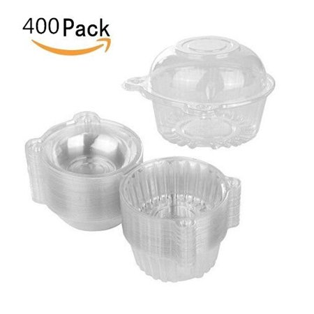 Clear Plastic Box Packaging - Plastic Cupcake, VGEBY 400pcs Individual Clear Plastic Cupcake Muffin Dome Holders Single Clamshell Container Carrier Cases Boxes Cups Pods with Resealable Lids - Keep your Cupcakes or Muffins