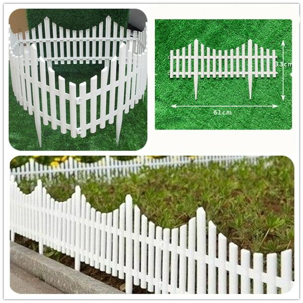 12 White Flexible Plastic Garden Picket, Flexible Garden Fence Strips
