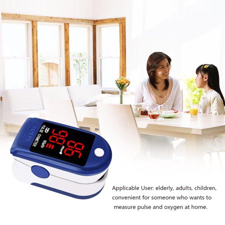 Digital Monitor Blood Oxygen Sensor SpO2 Fingertip Pulse Oximeter Oxygen Finger Saturation Level Meter ()