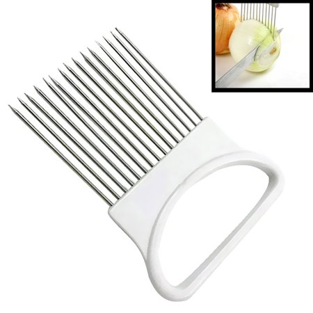 - Onion Holder Slicer Vegetable Tools Tomato Cutter Aid Kitchen Gadgets Peel Guide