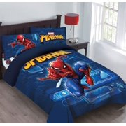 Twin Spider-Man Marvel BED IN A BAG Comforter Set W/Fitted Sheet And Pillowcase