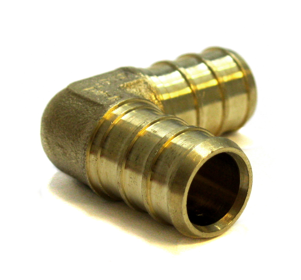"1/2 inch Pex Elbow 1/2"" * 1/2"" (pack of 8) Brass Crimp Fitting"