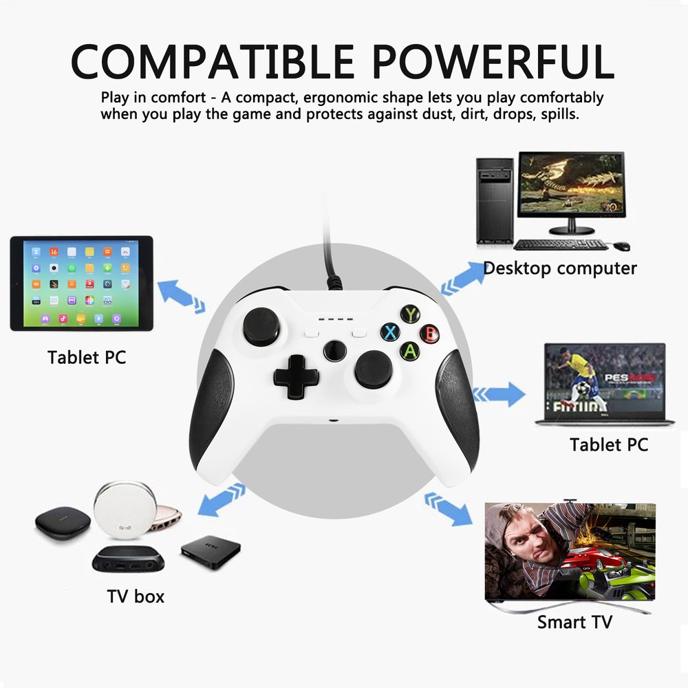 USB Wired Gamepad Remote Controller For XBOX One Slim S Controller Joystick Gamepad