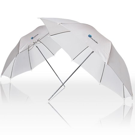 "Loadstone Studio 2x 33"" Studio Lighting Umbrellas Translucent White soft Umbrella, WMLS2100"