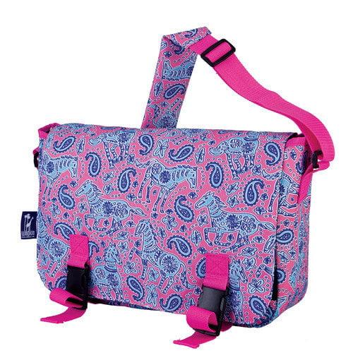 Watercolor Ponies Jumpstart Messenger Bag