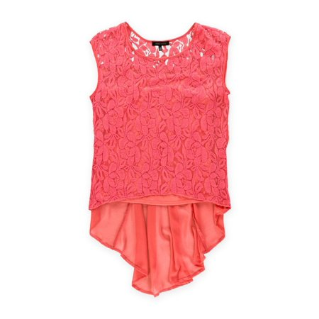 Urban Hearts Clothing Womens Lace Twinset Pullover Blouse