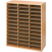 Safco, Laminate Literature Organizer, 1 Each, Medium Oak