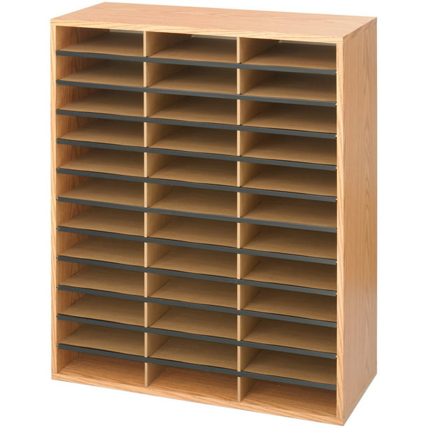 Safco Laminte Literature Organizer, Medium Oak, 1 Each (Quantity)