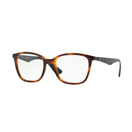 Ray Ban Tortoise Frame - Ray-Ban Optical 0RX7066 Eyeglasses for Unisex - Size - 52 (Light Havana)