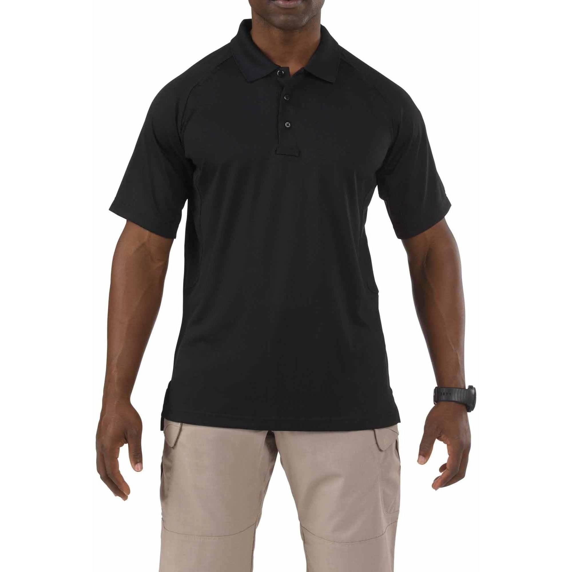 Performance Short Sleeve Polo Shirt, Black