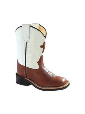 Infant Old West 6 Inch Broad Square Toe Cowboy Boot - Toddler