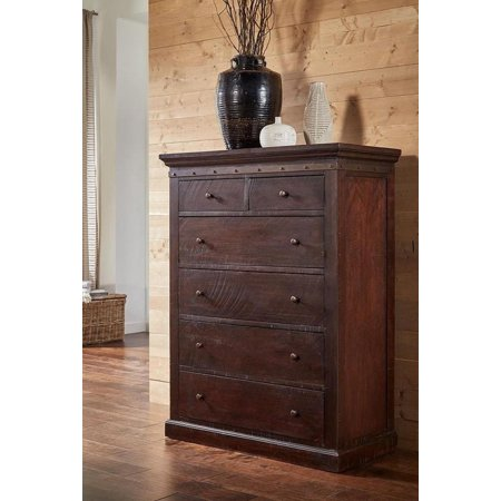 Rustic Chest in Rawhide Mahogany JACRY5600 A-America Jackson ()
