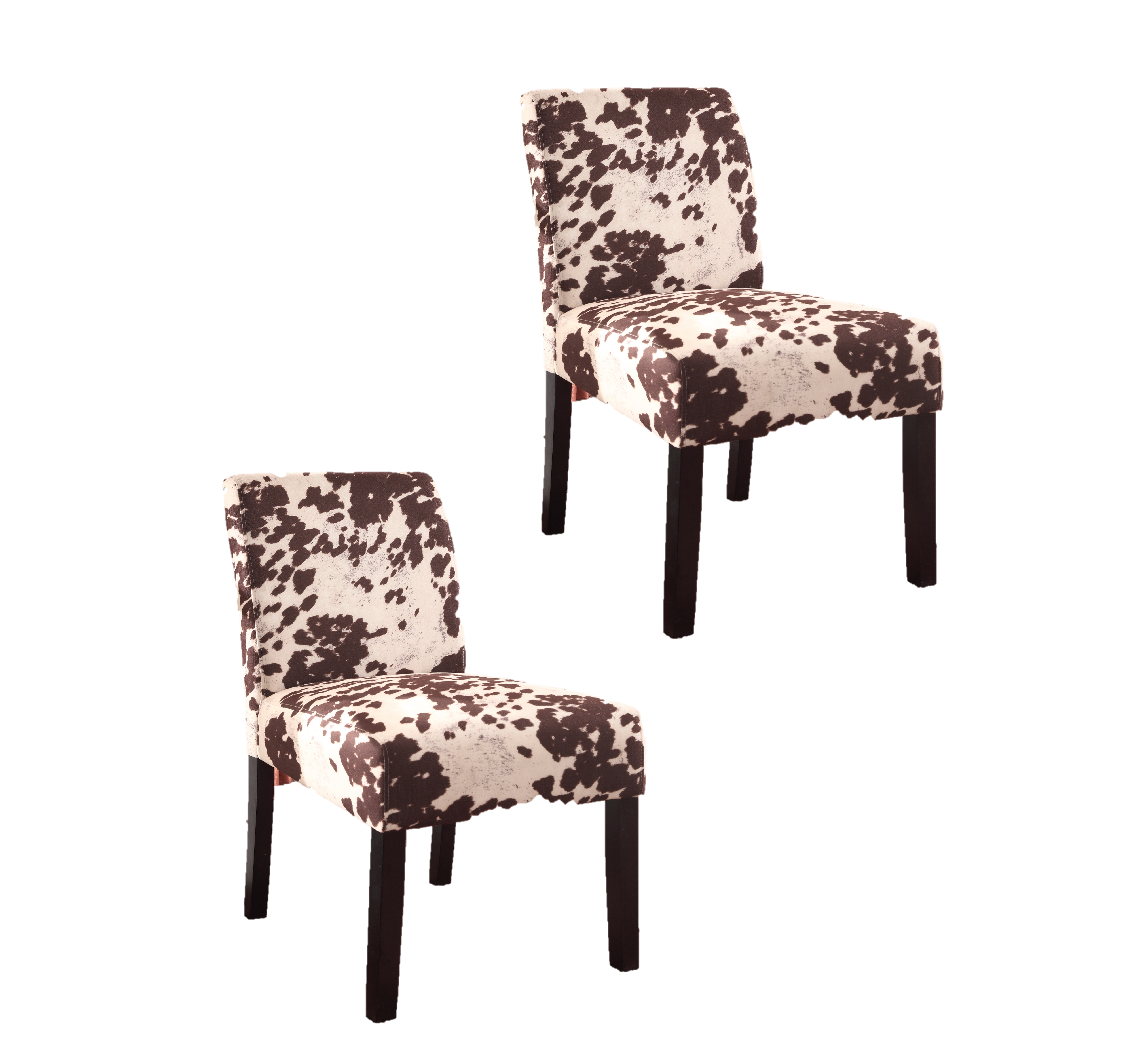 US Pride Furniture Cowhide Print Accent Chair - Set of 2