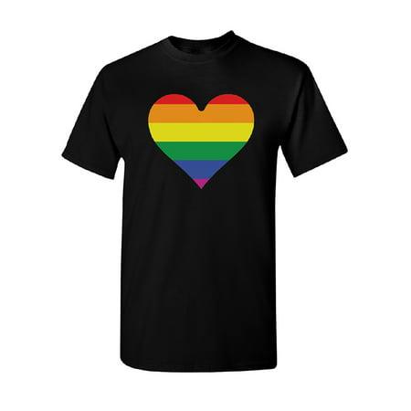 Rainbow Heart Flag Men
