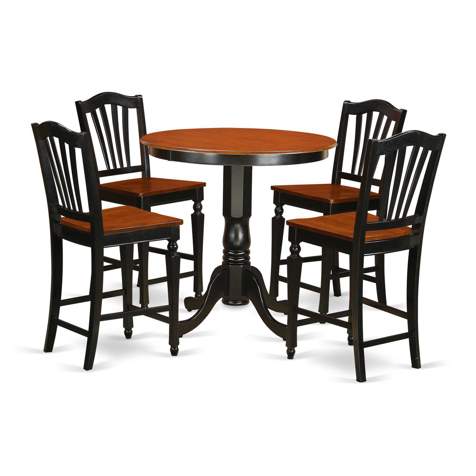 East West Furniture Jackson 5 Piece High Splat Dining Table Set
