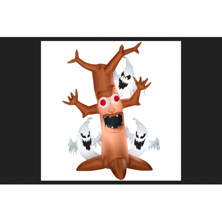 Gemmy Industries Scary Tree with Ghosts Trio Lighted Halloween Inflatable 84 in. H x 36 in. W x 1