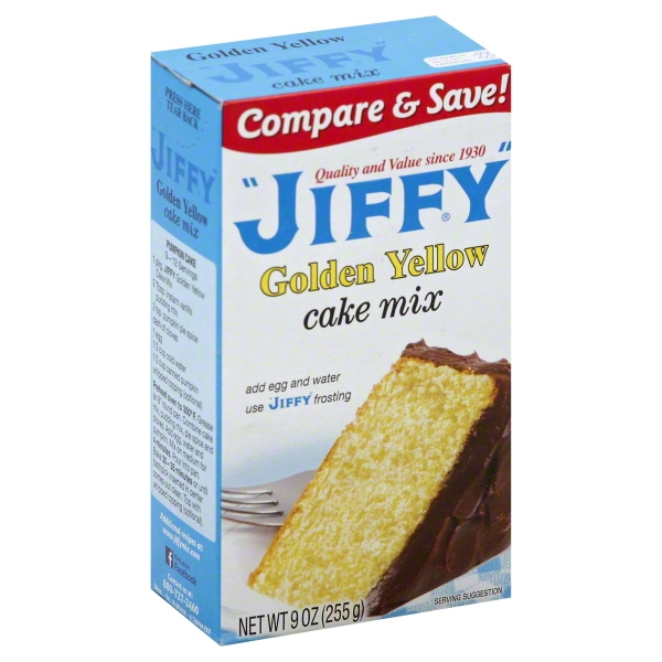 Jiffy: Golden Yellow Cake Mix, 9 Oz