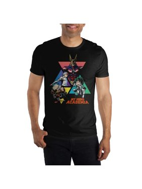 1cbe5219 Product Image MHA My Hero Academia Graphic Men's Black T-Shirt Tee Shirt-X-Large.  Bioworld