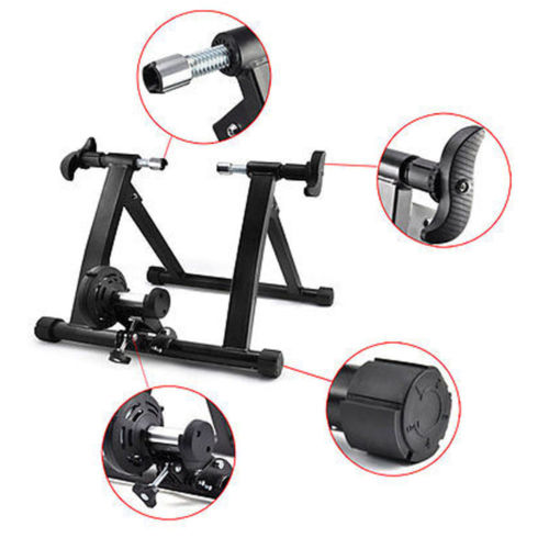 UBesGoo Bike Exercise Trainer Stand, Folding Wireless Bicycle Magnetic Practice Stand, with Adjustable Resistance Leavels, Indoor Home Cycling