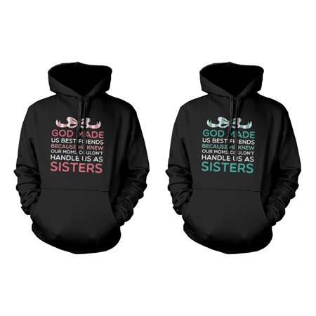 God Made Us Best Friends Funny BFF Quote on Hoodies Great Gift Idea for $<!---->
