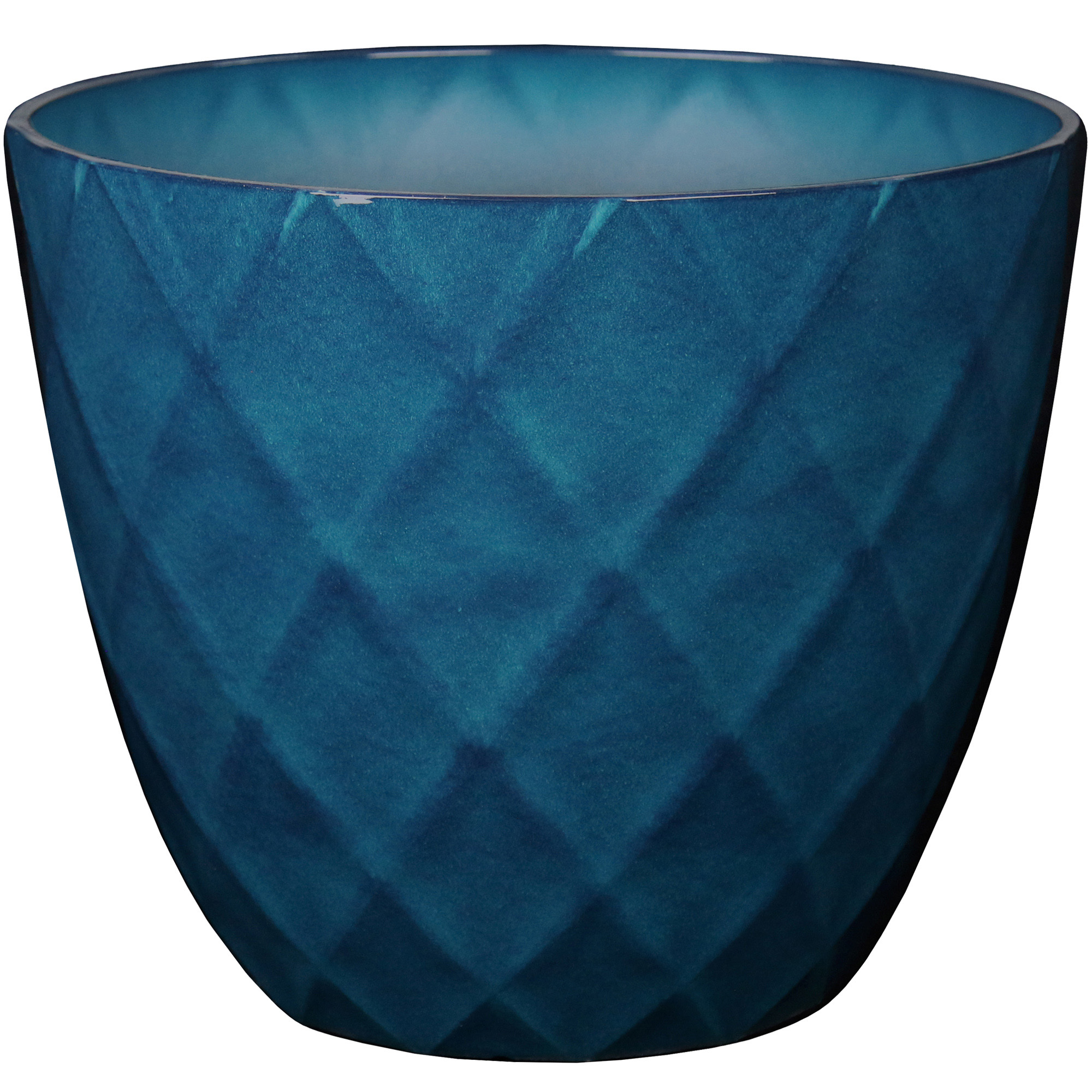 20IN DIAMOND BLUE PLANTER