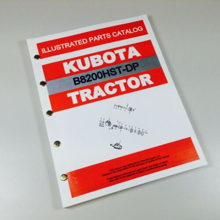 Kubota B8200Hst-Dp Tractor Parts Assembly Manual Catalog Exploded Views Numbers -  AgPubs
