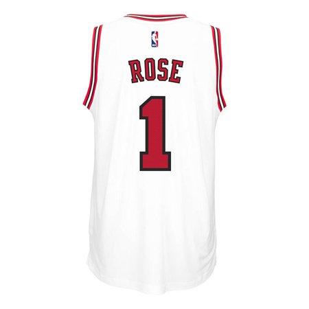 Chicago Bulls Adidas NBA Derrick Rose #1 Home Swingman Jersey (White) by