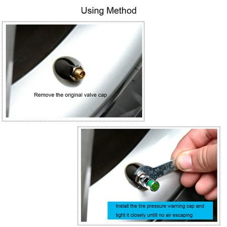 4Pcs/Set High Precision Automobile Car Tire Pressure Monitor Tire Valve Stem Caps Sensor Indicator Tire Pressure Alert Warning Cap 2.0 Bar/2.2 Bar/2.4 Bar - image 6 of 7
