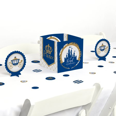 Royal Prince Charming - Baby Shower or Birthday Party Centerpiece & Table Decoration Kit (Royal Prince Baby Shower Ideas)